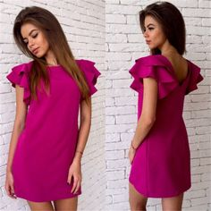 Cheap club dress, Buy Quality summer dress directly from China women summer dress Suppliers: Womens Summer Dresses 2017 Summer New Style Butterfly Sleeve Casual Dress Red Sexy Backless Beach Mini Party Club Dresses Summer Dresses 2017, Casual Summer Dresses, Summer Dresses For Women, Trendy Dresses, Sexy Dresses, Nice Dresses, Short Sleeve Dresses, Dresses With Sleeves, 2017 Summer