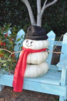 Repurpose your pumpkins for Christmas decor!