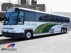 North Fork Express Bus Wrap by JMR Graphics