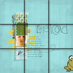 Applying the rule of thirds to scrapbook pages and photos. Scrapbook layout design.: