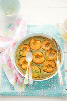 {Gluten and Dairy Free Apricot and Pistachio Clafoutis} :: Cannelle et Vanille