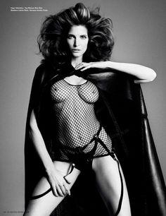 Stephanie Seymour by Daniele & Iango - i-D Mag. 2012