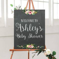 Baby Shower Decor, Baby Shower Sign, Printable Sign, Welcome Sign, Custom Quote Sign, digital Download