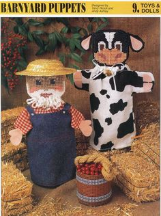 Barnyard Puppets Plastic Canvas Pattern by needlecraftsupershop, $3.50 Plastic Canvas Crafts, Plastic Canvas Patterns, Toddler Crafts, Preschool Crafts, Doll Toys, Dolls, Barn Wood Crafts, Cowboy Party, Design Crafts