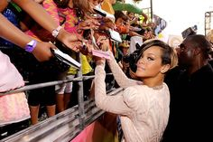 Larry Busacca/Getty Images for KCA 2010 Rihanna greets fans as she arrives at Nickelodeon's 23rd Annual Kids' Choice Awards held at UCLA's Pauley Pavilion on March 27, 2010 in Los Angeles, CA.