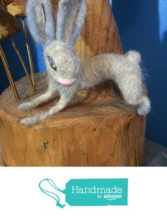 Maisy the needle felted Bunny from Essence of Tranquility https://www.amazon.co.uk/dp/B01LYL7B9H/ref=hnd_sw_r_pi_dp_Goq8xbXNEJ69H #handmadeatamazon