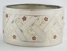 Victorian Sterling Silver Cuff c.1880 vintage silver jewelry ruby lane rubylane www.rubylane.com