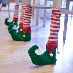 Set 4 calzini natalizi per sedia