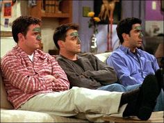 Bromantic threesome: Ross, Chandler and Joey