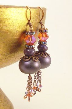 FOREVER AFTER  Purple pixiedust lampwork: Gypsy Love by TashinkaBeadingHeart on etsy.com $33.00