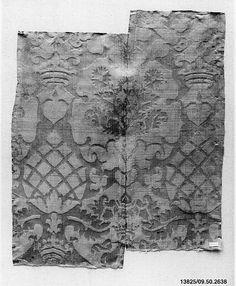 16th century Culture: Italian Medium: Silk Dimensions: Overall: 21 x 16 3/4 in. (53.3 x 42.5 cm)