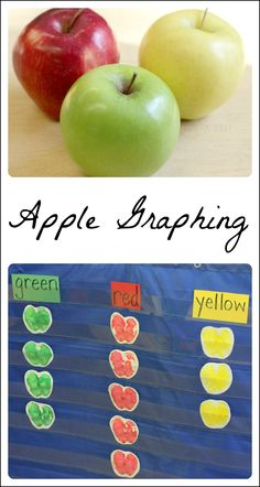 Get the kids' five senses involved in this preschool math for an apple theme. This apple math activity combines science, art, and math for preschool kids! Preschool Apple Theme, Apple Activities, Autumn Activities For Kids, Fall Preschool, Kindergarten Science, Preschool Themes, Preschool Lessons, Preschool Classroom, Preschool Apples