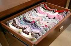 With Boobie Trap Bra Storage System (how our drawer should look) The best way to look after your bras and tidy your drawer!