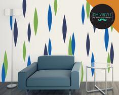 Retro Petal Vinyl Wall Decals, Set of 27 - SHA027 by PMVinyls on Etsy