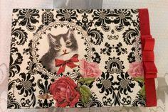 Caixa gato preta ficou linda