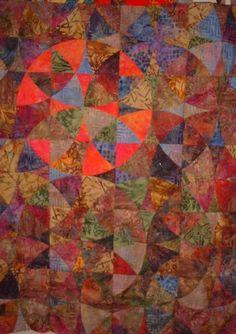 Batik Sun original quilt by Bev Bryan