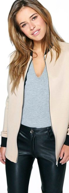 Petite Layla Longline Scuba Bomber Jacket - Coats & Jackets  - Street Style, Fashion Looks And Outfit Ideas For Spring And Summer 2017