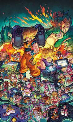 Pin by Dbz_Dokkan End on Dragon ball Gaming Wallpapers, Animes Wallpapers, Dragon Ball Gt, Geek Art, Cartoon Wallpaper, Anime Comics, Cover Art, Chibi, Fan Art