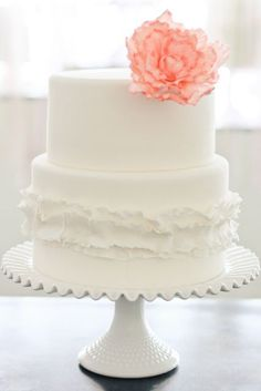 This is my favorite cake except for the flower up top. I would go with the flowers and golden bulbs from the other photo. Also, the cake would be three tier.