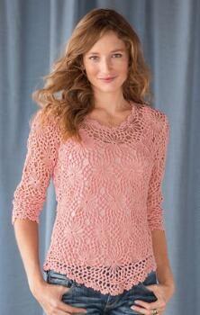 Ligero y elegante, este jersey de algodón margarita encaje es una capa esencial de clima cálido.