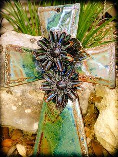 Mudworks Pottery Large Flower cross
