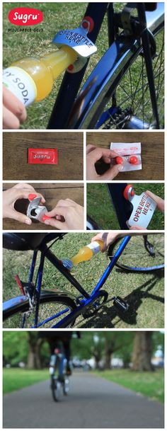 Keep your bottle opener handy for those spontaneous picnics, and stick it to your bike with #Sugru!