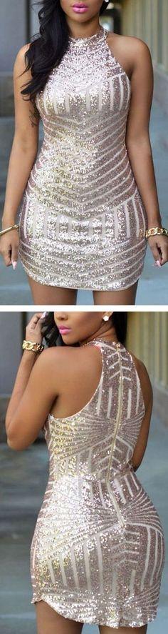 sequin-stripe-bodycon-dress