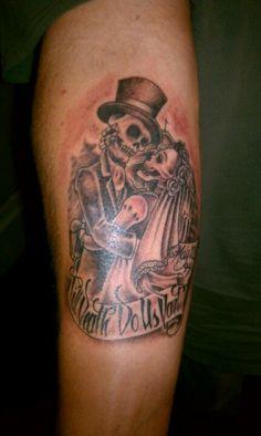 Till death do us part skull couple tattoo pinterest for Until death do us part tattoo