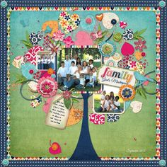 "Family by Stacey Jewell Stahl. This layout just screams ""original"". I just love everything about it!!!:"