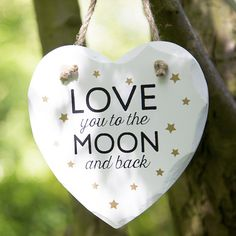 https://www.sassandbelle.co.uk/Love You To The Moon and Back Heart Plaque