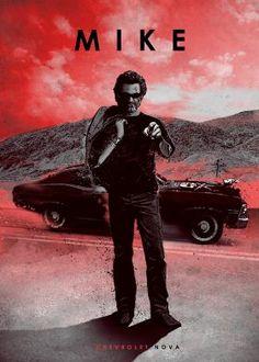 print on metal Characters stuntman mike death proof movie grindhouse