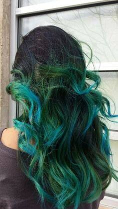 Green blue brown