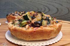 Mini quiche di frolla salata con zucchine, gorgonzola e noci Fulvia's Kitchen