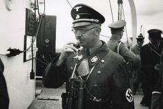 Heinrich Himmler during a Naval ship tour in northern Germany