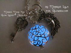 Magic Moon Key Glow Locket® Necklace by MoniqueLula on Etsy