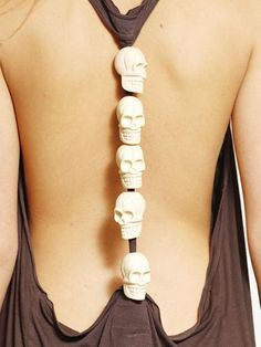 using beads or chains <3-- not skulls, but I do love the idea!!