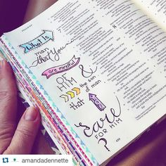 Gorgeous lettering and we're loving the washi tape edges by @amandadennette It's a good thing to get these verses in your heart!  Journaling helps to do that! Make your Bible unique to your personal relationship with God. #craftedword #repostedwithpermission #Repost @amandadennette with @repostapp.  I'm doing a monthly Bible Challenge focusing on a verse each day and letting myself be led to create something for each passage. If you are interested in working along side me I created a group…