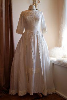 Wedding Dress // 50s Wedding Dress // Vintage by xtabayvintage, $598.00