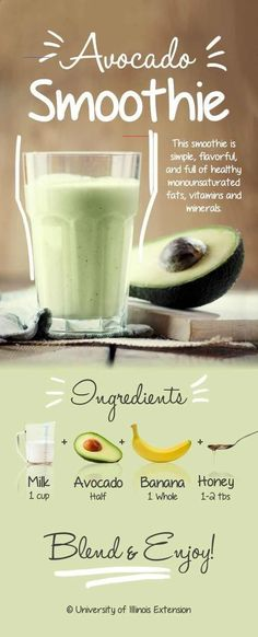 The Best Creamy Avocado Smoothie &; Karluci The Best Creamy Avocado Smoothie &; Easy Smoothies, Green Smoothie Recipes, Morning Smoothies, Fruit Smoothies, Smoothies Verts, Health Smoothie Recipes, Vegetable Smoothies, Fruit Juice, Diet And Nutrition