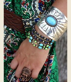 Love the design of this cuff, but I'm not sure it's real silver or turquoise based on the price.