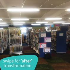 From dark, uninspiring and underused, to bright, inviting and the most popular place to be at school. St. Therese's Primary School in VIC Australia transformed their outdated library into a multipurpose STEM library space the whole school loves. #schoollibrary #librariesofinstagram #STEM #stemeducation #students #literature #love2read #literacymatters #schoolfurniture #schooldesign #schooldesignplanning #furnware #libraryfurniture #educationfurniture #learningspacedesign Learning Spaces, Learning Environments, Learning Centers, Student Learning, Library Furniture, School Furniture, 21st Century Schools, Staff Room, Building Concept