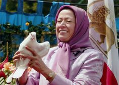 Maryam Rajavi. Presicent-Elect of the Iranian resistance, releases a dove, as a symbol of the freedom of Iranian people. After 11 years of investigation, arrests and harassment, instigated by the Iranian regime and motivated by economic benefits,finally the French Judiciary  closed one of the longest cases  in France's history. The Iranian resistance and its members are acquitted from all charges . No evidence was found against the Iranian resistance, even after 11 years of investigation.