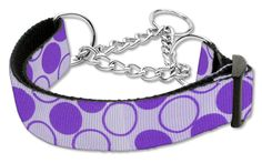 Diagonal Dots Nylon Collar Martingale