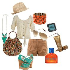 As the Tide Rolls in, created by rachael-phillips on Polyvore (i wouldn't wear the heels unless going OUT though ...)