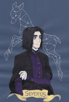 Severus and his patronus, a doe! セブルスと守護霊の牝鹿