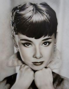 Audrey Hepburn painting art audrey hepburn