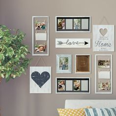 33 Unusual Picture Frame Wall Decorating Ideas On A Budget Unusual Picture Frame Wall Decorating Ideas On A Budget Wall art is among the absolute most enjoyment and inexpensive methods to decorate your house. Photo Wall Hanging, Photo Wall Decor, Family Wall Decor, Room Wall Decor, Scrabble Wall Art, Gallery Wall Layout, Cheap Wall Decor, Heart Decorations, Frames On Wall