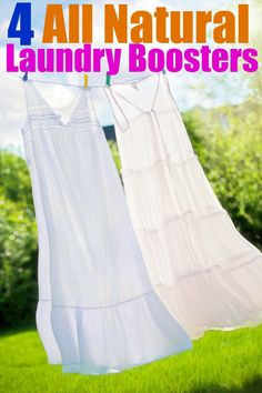 If your laundry is looking dingy, try these natural laundry boosters. Great DIY idea for keeping your home routine natural. Really works on whites!