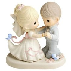 Precious Moments You Are My Dream Come True Figurine  Bride and Groom  http://dld.bz/preciousmomentsyouaremydreamcometrue