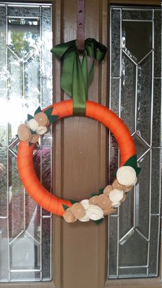 A personal favorite from my Etsy shop https://www.etsy.com/listing/255581281/halloween-felt-flower-wreath-holiday